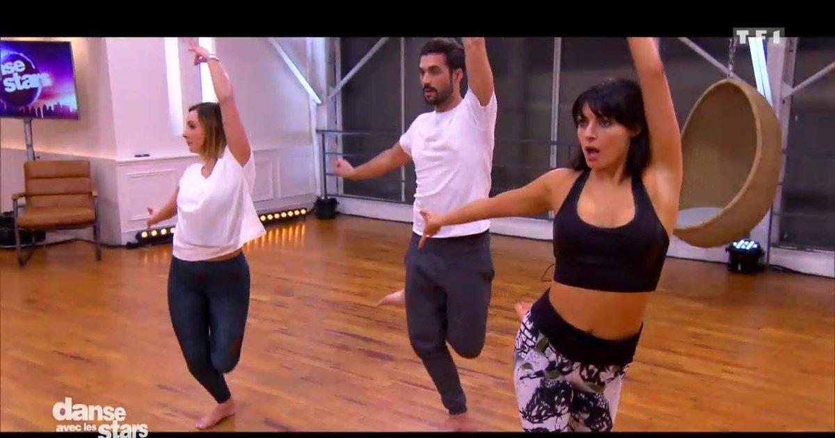 Danse avec les stars  : Répétitions en trio pour Florent Mothe - Candice Pascal et Priscilla Betti  - TF1