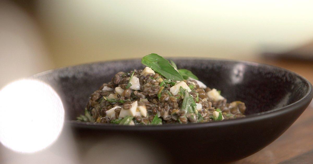 Recette de salade ti de de lentilles sauce gribiche petits plats en equilibre - Toutes les recettes de petit plat en equilibre ...