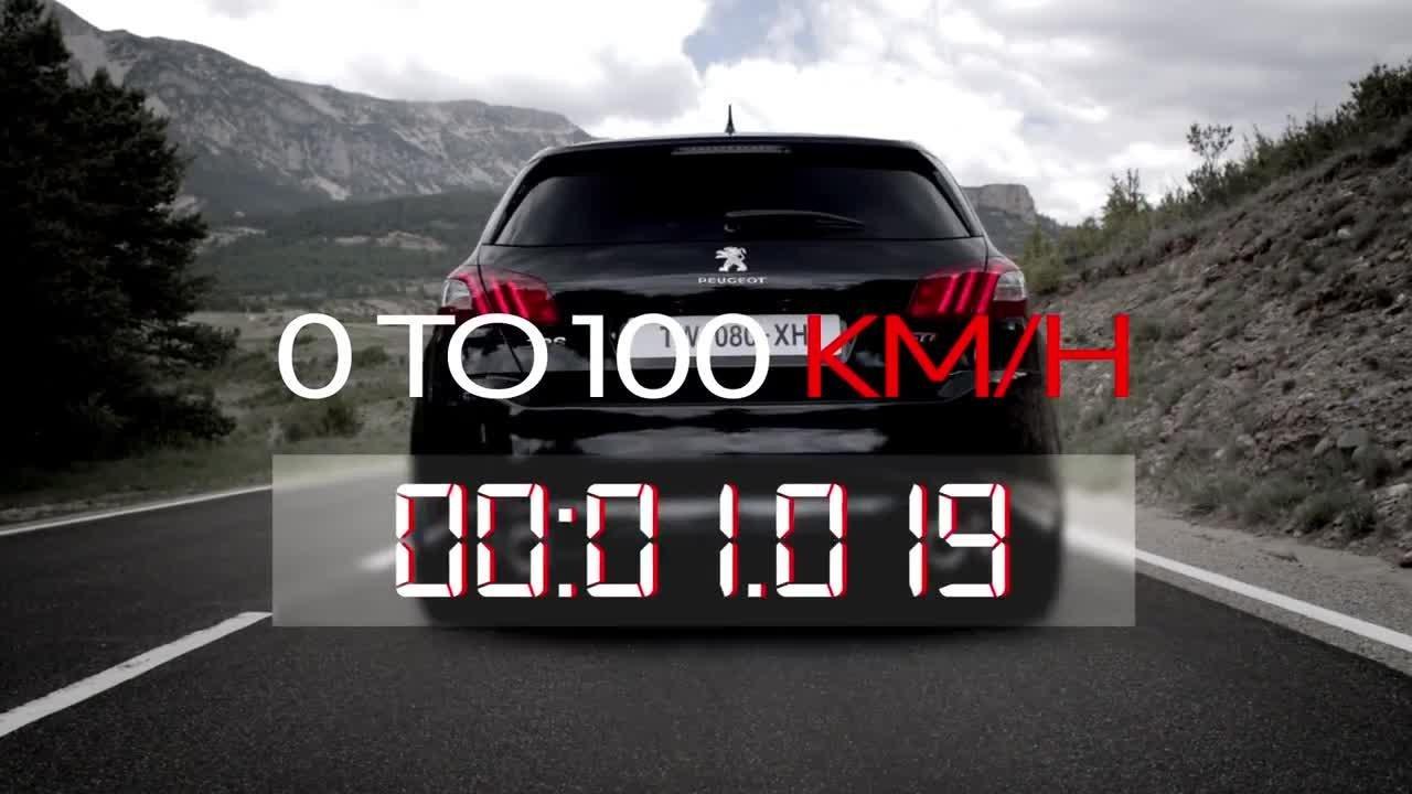 la peugeot 308 gti sur le 0-100 km/h ! - automoto - tf1