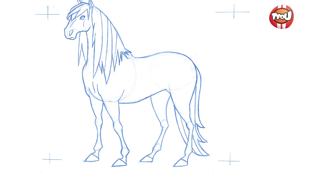 Coloriage Cheval Le Ranch.Apprends A Dessiner Mistral Les Reporters Tfou Le Ranch Tf1