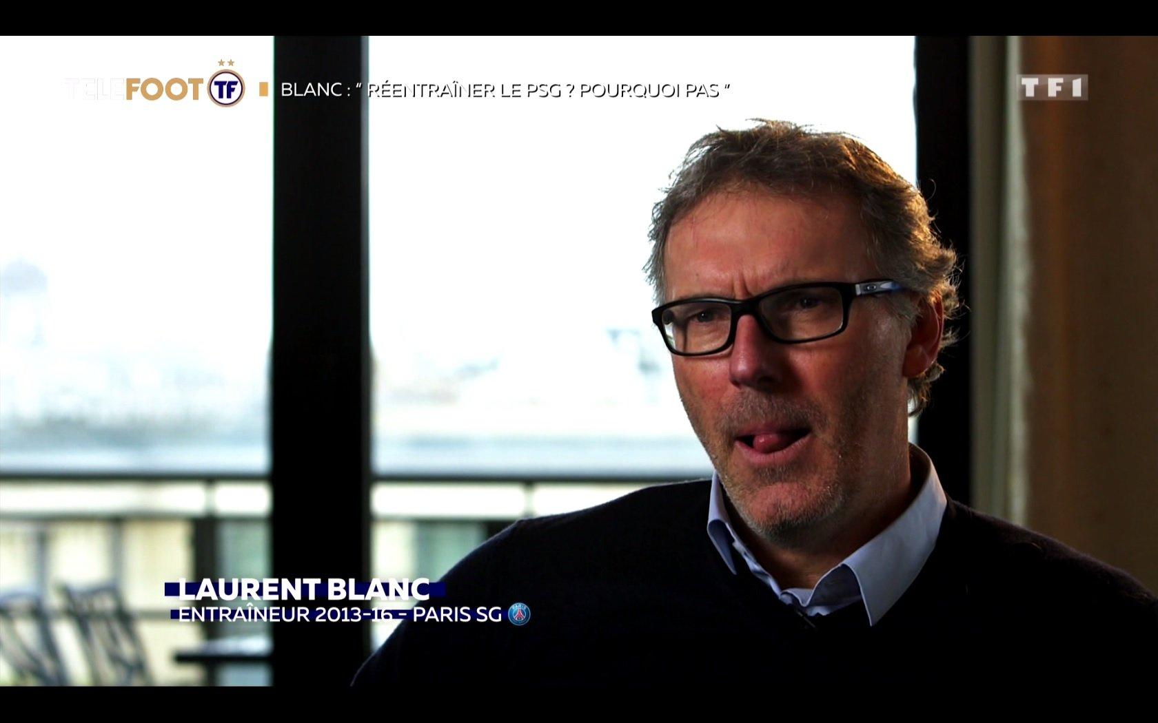 """[EXCLU Téléfoot 10/02] - Blanc : """"Entraîner à nouveau le PSG ? Je ne vois pas de raison de vous dire non"""""""