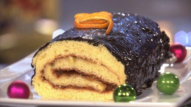 Recette de biscuit roul au chocolat et l 39 orange petits plats en equilibre - Petit plat en equilibre buche de noel ...