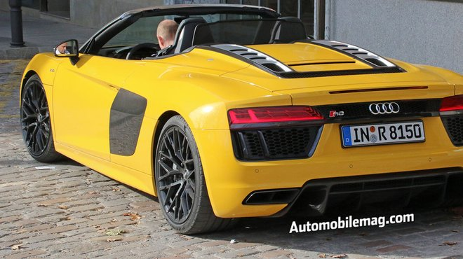 La Future Audi R8 Spyder 2016 Surprise En Tournage Automoto Tf1