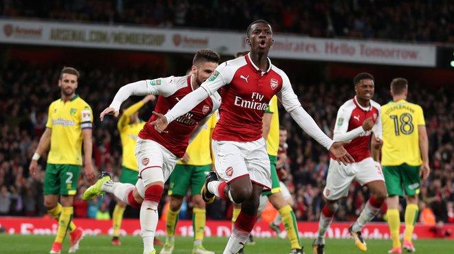 Maillot Domicile Arsenal Eddie Nketiah