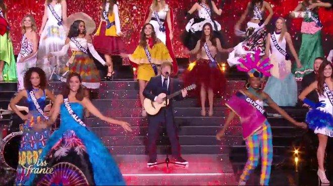 Miss France 2018 Miss France 2018 \u2013 Les 30 Miss en costume régional, Ed  Sheeran en live avec « Shape of You» , TF1