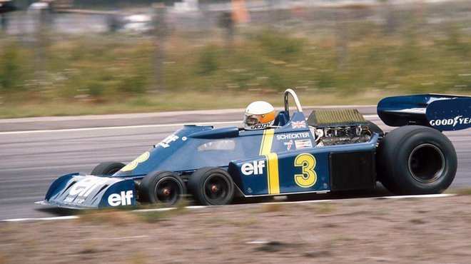 f1 il y a 40 ans la tyrrell six roues remportait le grand prix de su de automoto tf1. Black Bedroom Furniture Sets. Home Design Ideas