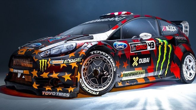 gymkhana 8 ken block d voile sa nouvelle ford fiesta st rx43 cam l on automoto tf1. Black Bedroom Furniture Sets. Home Design Ideas