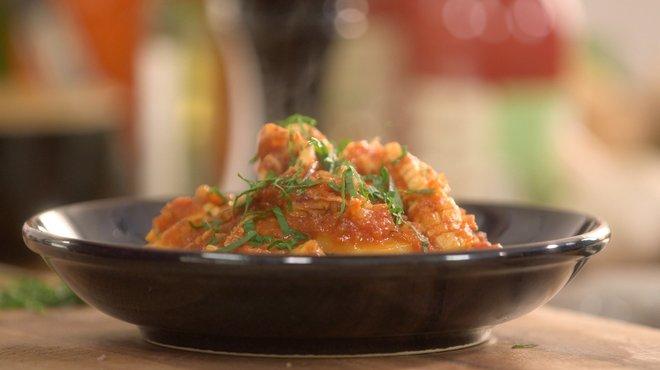 recette de rago t de calamar au chorizo petits plats en equilibre tf1. Black Bedroom Furniture Sets. Home Design Ideas